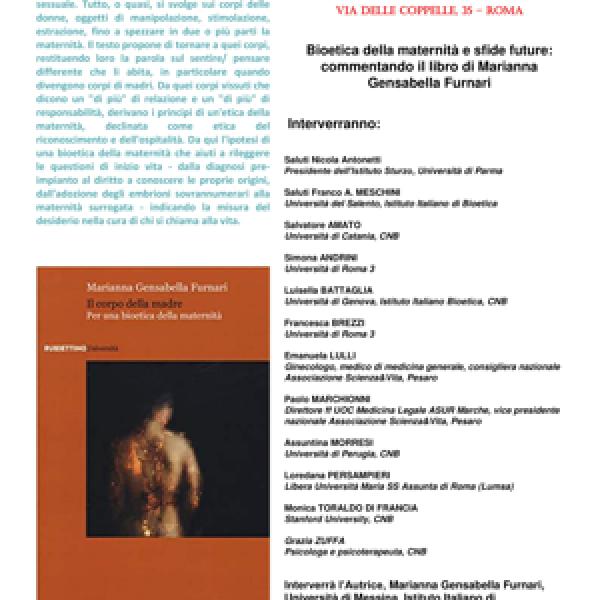 Maternità tra etica e bioetica, riflessioni sul corpo della donna
